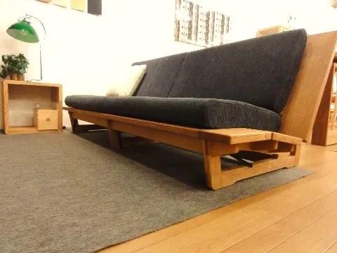 木枠フレーム、ロータイプソファー、ファブリック仕様。靜岡県、木工家具メーカー久和屋さんのソファー ...