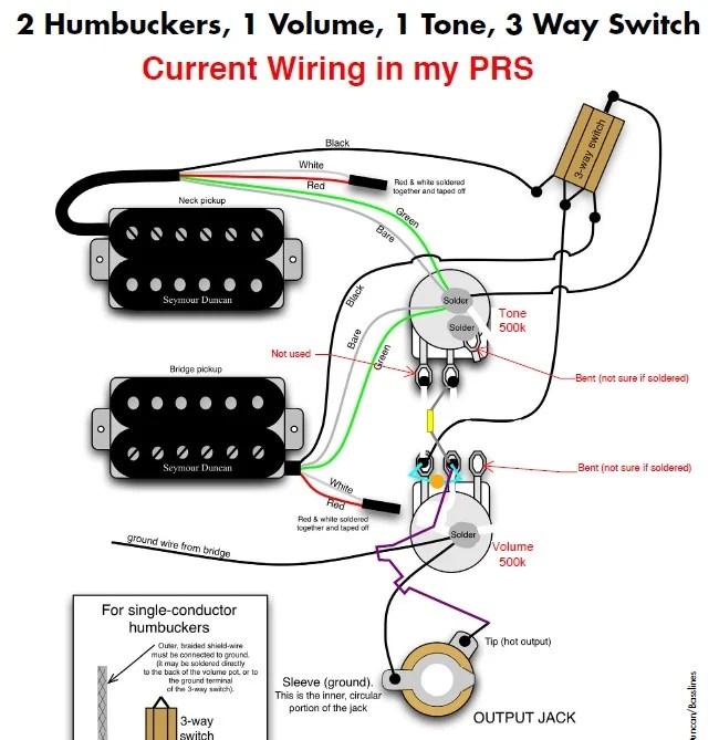 prs se pickup wiring diagram ge dryer heating element custom 24 schematics 1 volume tone ~ elsalvadorla