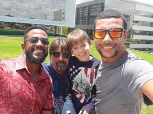 Ricardo Ulhoa (Blog News Black ), Sérgio Loros com seu filhinho Sérginho Gabriel (Informando e Detonando) e Cláudio Ulhoa (Blog do Ulhoa)