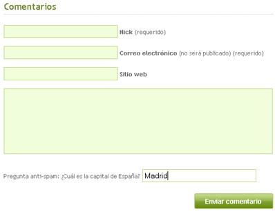 Antispam Challenge en Bloginformatico.com