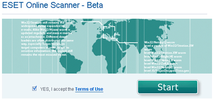 ESET Online Scanner, NOD32 en línea
