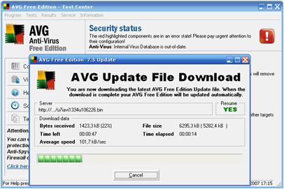 AVG Free Edition 7.5.518