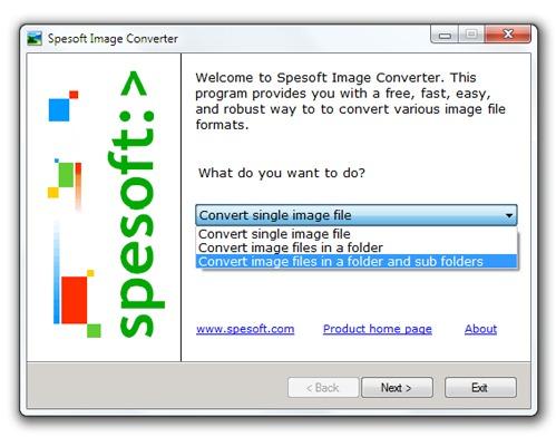 Conversor masivo de imágenes - Spesoft Image Converter