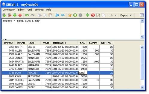 Editor de bases de datos - DBEdit 2