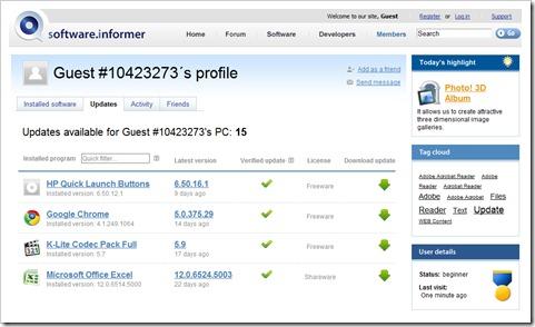 Lista de programas para actualizar - Software Informer
