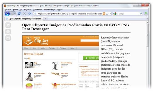 Readability en Firefox - Opción Lector de Safari 5