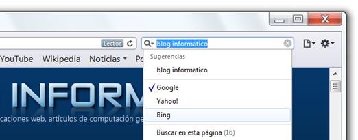 Safari 5 - Motor de búsqueda predeterminado