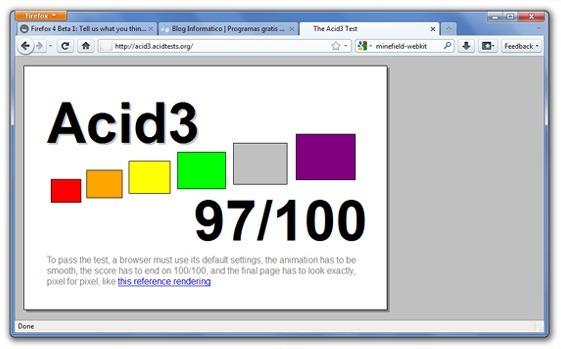 Acid3 en Firefox 4