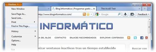 Firefox 4 - Botón Firefox