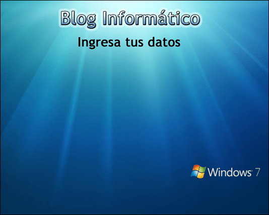 Logon Screen personalizado de Blog Informático