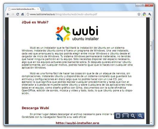 Documento PDF en Google Chrome 6