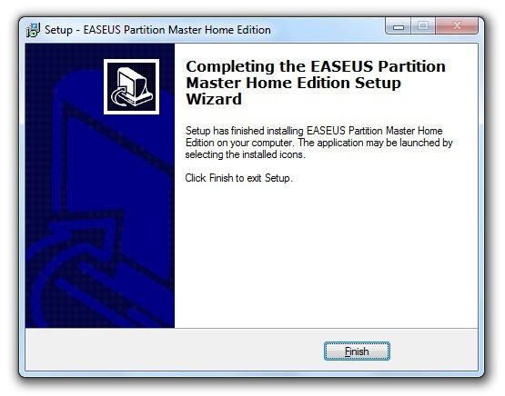 Instalación de EASEUS Partition Master 10