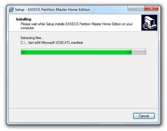 Instalación de EASEUS Partition Master 9