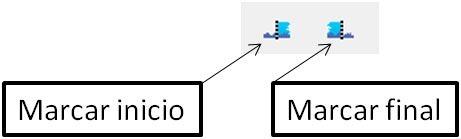 Botones para fijar inicio y final MP3 - mp3DirectCut