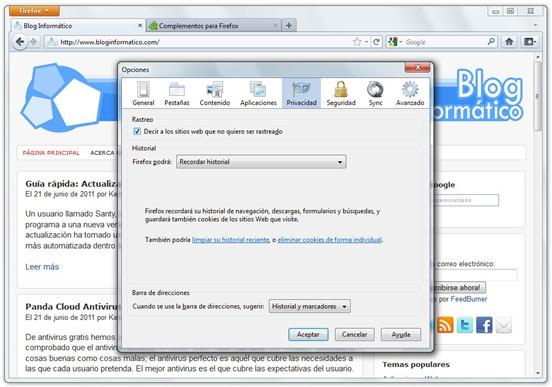 Firefox 5 - Do Not Track