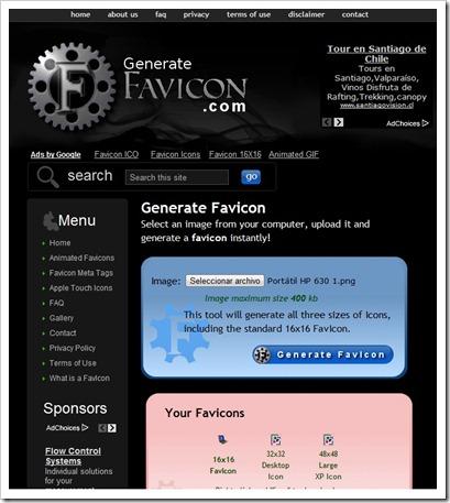 Generate Favicon Online