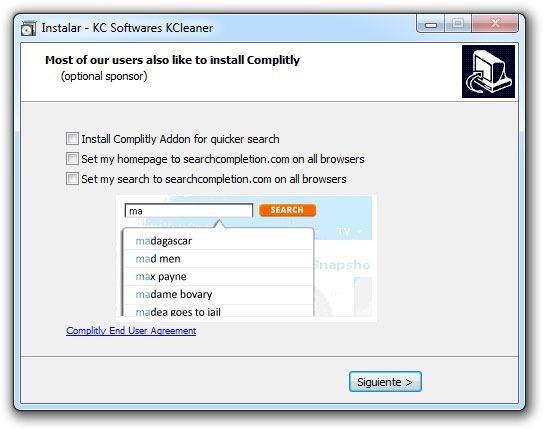 KCleaner - Evitar Add-ons