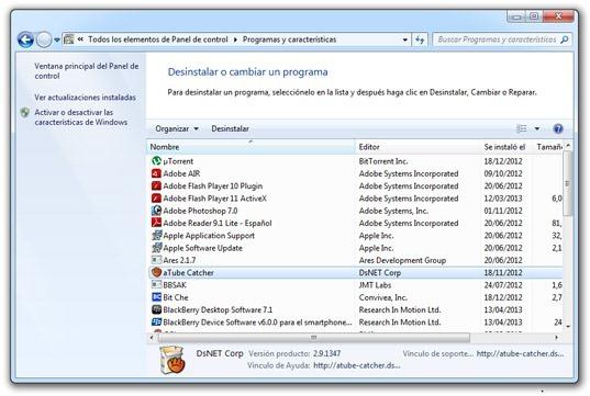 PC Performer - Programas y características