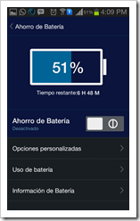 Advanced Mobile Care - Ahorro de batería