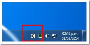 Icono en la barra de notificacion