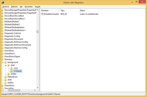 Registro de Windows 8 - Clave