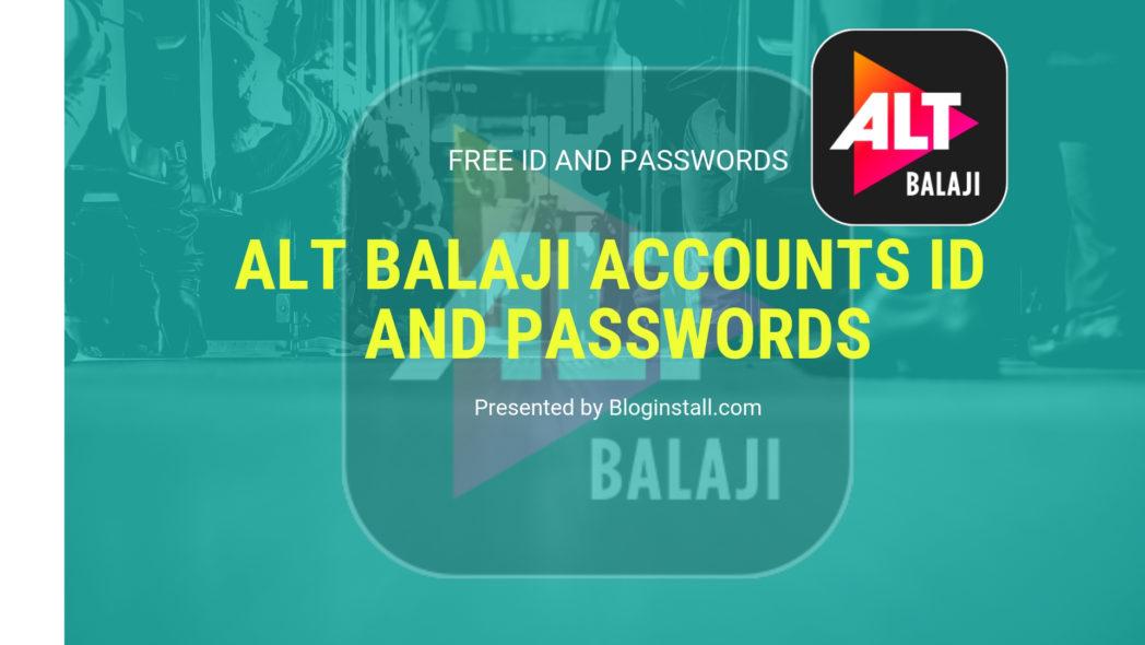 free Alt Balaji account cookies, username and passwords