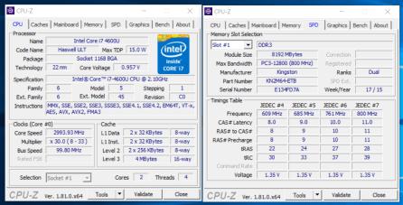 CPU-Z - Dell Latitude E7440
