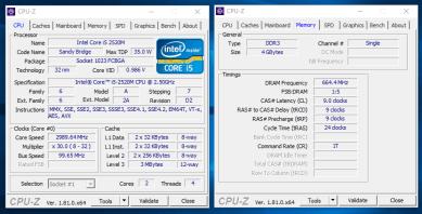 CPU-Z (procesor si memorie ram)