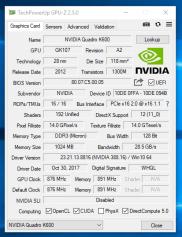 Workstation Fujitsu CELSIUS W530 - GPU-Z