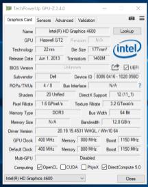Dell Latitude E6440 - GPU Z