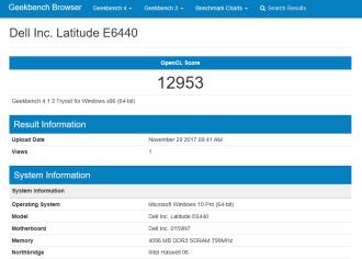 Dell Latitude E6440 - geekbench