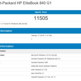 HP Elitebook 840 G1 - Geekbench OpenCL
