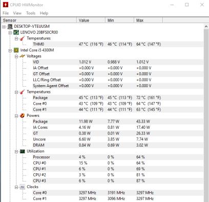 Lenovo ThinkPad T540 - GeekBench OpenCL