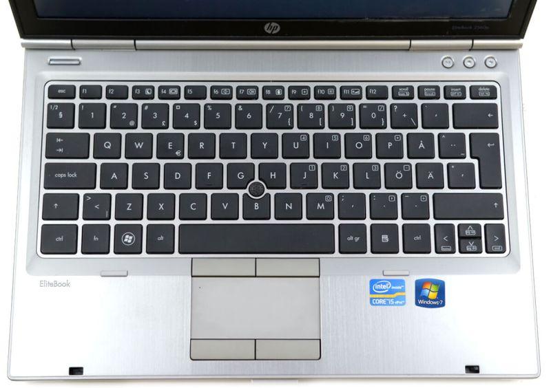 HP EliteBook 2560p - vedere superioara tastatura si touchpad