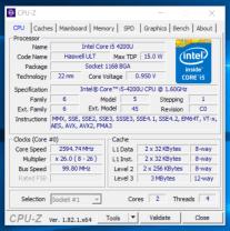Lenovo ThinkPad S1 Yoga - CPU-Z