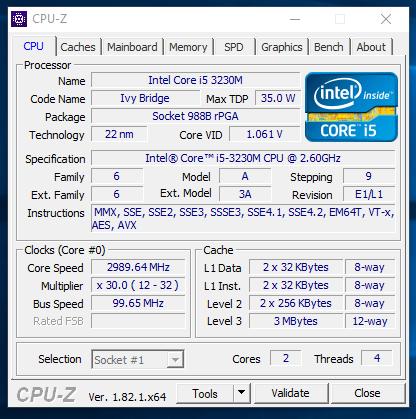 Dell Latitude E5430 - CPU-Z