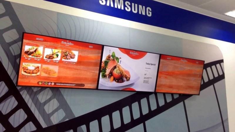 Display wall format din monitoare Samsung MEB