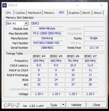 Dell Latitude 3340 - Memorie