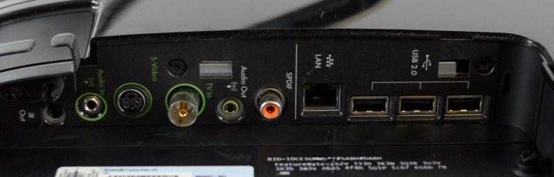 All in One HP TouchSmart 600 - porturi laterala stanga