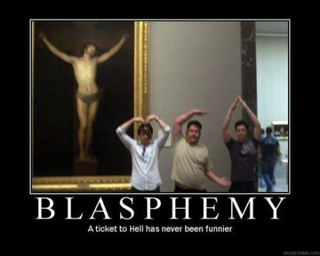 Blasphemy: A ticket to Hell has never been funnier.  (YMCA)