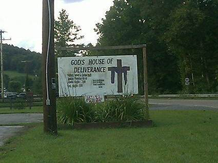 Church Sign: God's House of Deliverance