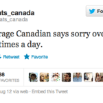 How Often do Canadians Say Sorry?