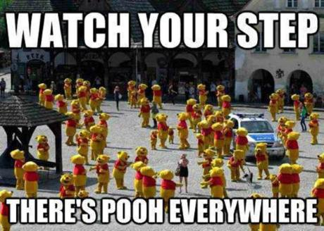 Watch your step.  There's Pooh everywhere.