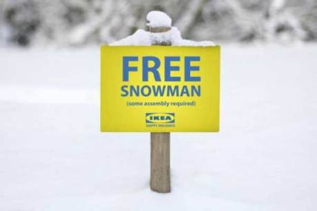 Free Snowman (some assembly required) from IKEA