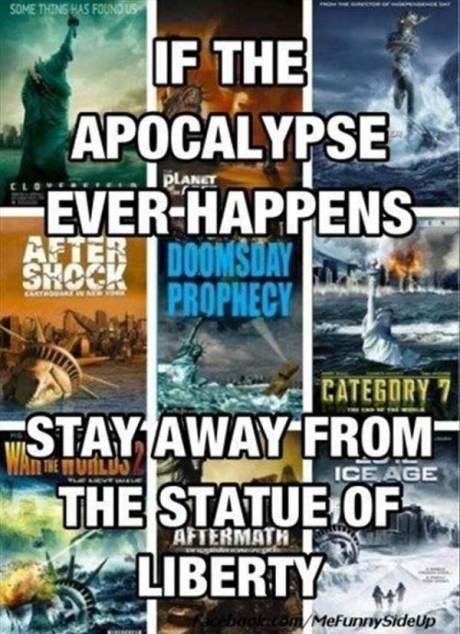 If the Apocalypes Ever Happens, Stay Away From the Statue of Liberty