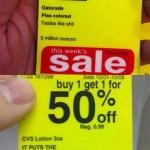 CVS Sale Price Tags