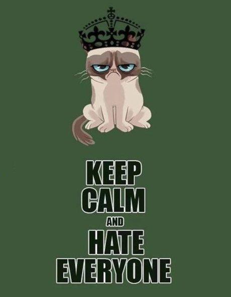 "Grumpy Cat: ""Keep Calm and Hate Everyone"""