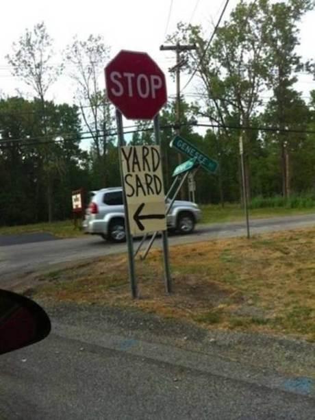 Yard Sale Sign? Yard Sard!