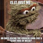 Is Oscar the Grouch Smokable?