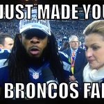 Seahawk's Richard Sherman Creates Broncos Fans